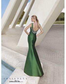 Vestido corte sirena verde