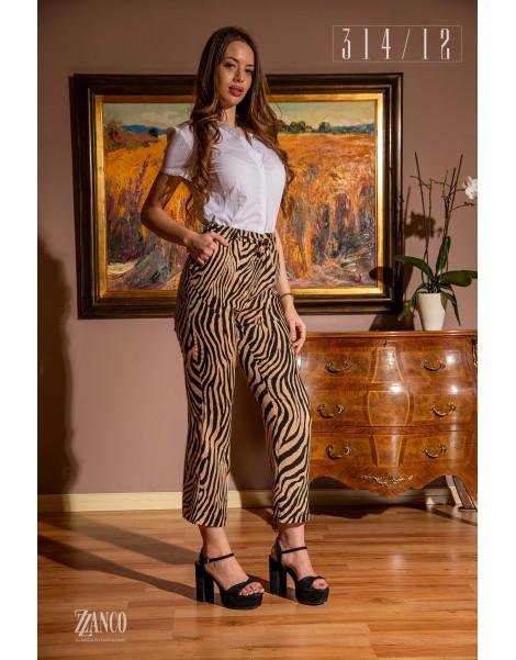 Pantalón harem animal print